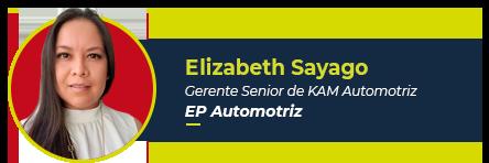 Foto de Elizabeth Sayago,  gerente senior de KAM Automotive de Europartners Group, autora de este artículo
