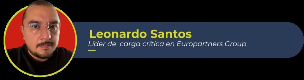 Foto de Leonardo Santos, líder de carga crítica de Europartners Group, autor de este artículo